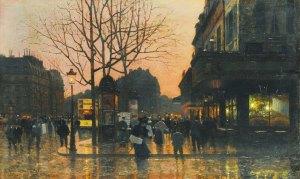 boulevard-du-palais, crepuscule. MarcelLebrun